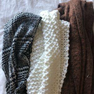 Oversized chunky scarves